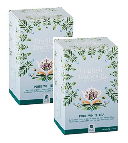English Tea Shop Weißer Tee Bio/Bio Weißer Tee Ausgezeichnete Sammlung handverlesenen Tees aus Sri Lanka - 2 x 20 Beutel (80 Gramm)