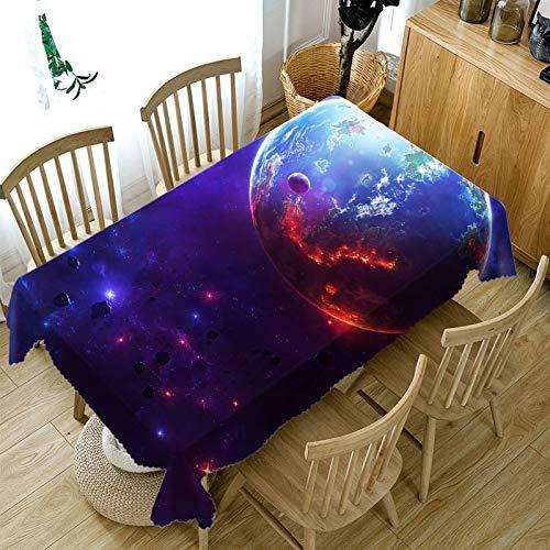 nobranded Planet Figur Bedruckte Tapete Esstischdecke Rechteckiges wasserdichtes Polyester Waschbar Verschiedene Größen