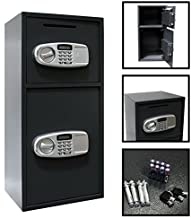 Digital Double Door Gun Safe Depository Drop Box Gun Safes Cash Office Security Lock by Empire Discount