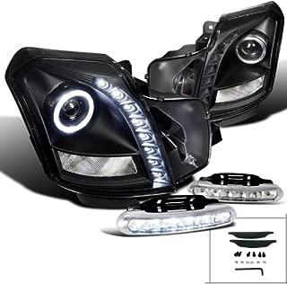 Spec-D Tuning L12-LHPCTS03JMRS Fog Headlight (CTS V Halo SMD Strip Projector Black LED Bumper Lamp)