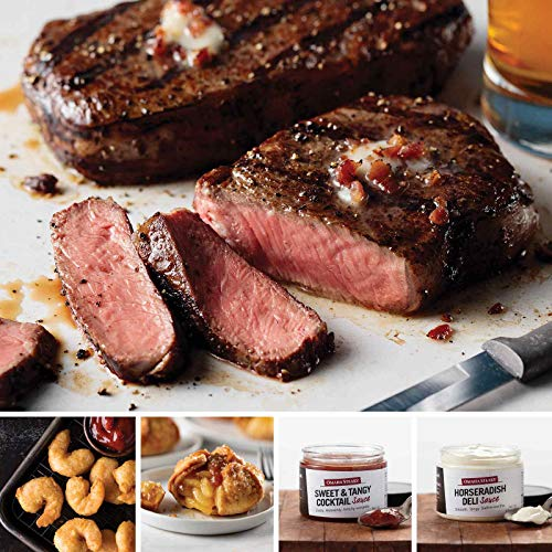 Ultimate Family Feast from Omaha Steaks (Ribeyes, Redhook Ale Beer-Battered Shrimp, Caramel Apple Tartlets, Sweet & Tangy Cocktail Sauce, and Gourmet Horseradish Sauce)