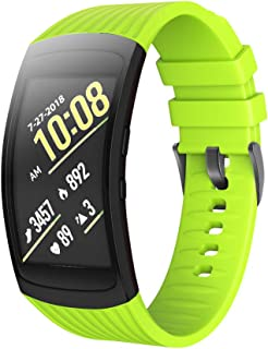 ANCOOL Compatible Samsung Gear Fit2 Pro Band/Gear Fit 2 Bands, Replacement Silicone Smartwatch Bands Compatible Samsung Gear Fit2 Pro (Large, Green)