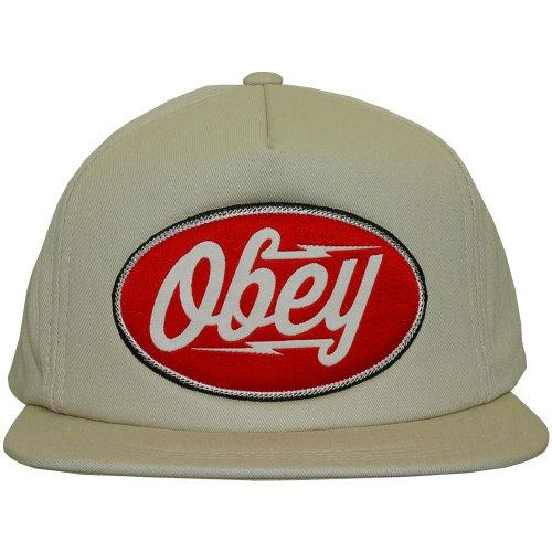 Obey–Gorra con visera plana para hombre Gasoline–Light Khaki