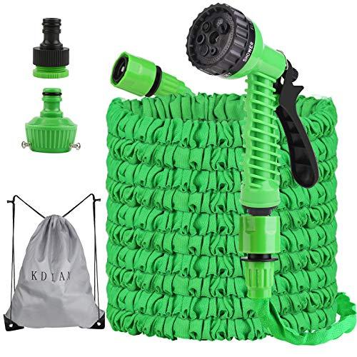 Tubo Estensibile da Giardino 37,5m 125FT, Tubo irrigazione Flessibile, Pistole da Giardino, Tubo da Giardino espandibile con 7 Funzione di spruzzo per Lavaggio Auto e Giardino di Casa (Verde)