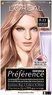 L 'Oréal Preferencia INFINIA 8.23brillante oro rosa permanente tinte de pelo, pack de 3