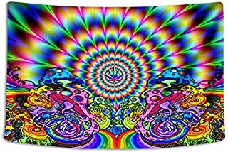 Tapestry Wall Cloth Fabric Hanging Bohemian For Bedroom Dorm Apartment Decoration Live Background Psychedelic Trippy Colorful Trippy Surreal Abstract Astral Digital Hemp Art 183x122cm(72x48inch)(001)