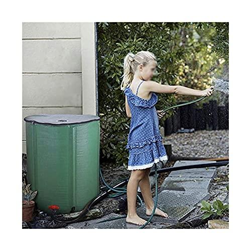 Contenedor Portador De Agua De Gran Capacidad Para Exteriores, Cubo De Emergencia Resistente Al Desgaste Resistente A La Sequía, Barril De Lluvia Portátil ( Color : Green , Size : 160L/50x88cm )