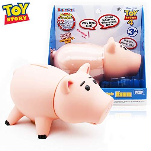CQ Figura Toy Story 4 Hamm verdadera Hablar Acción (botón de Sonido), Posable Figura de Caracteres for los niños de 3 años Toys