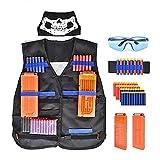 N\C Chaleco táctico para niños equipado con pistola Nerf Attack Elite Series Set de accesorios