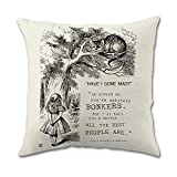 MOISES GOODWIN Alice in Wonderland Pillow Covers (18