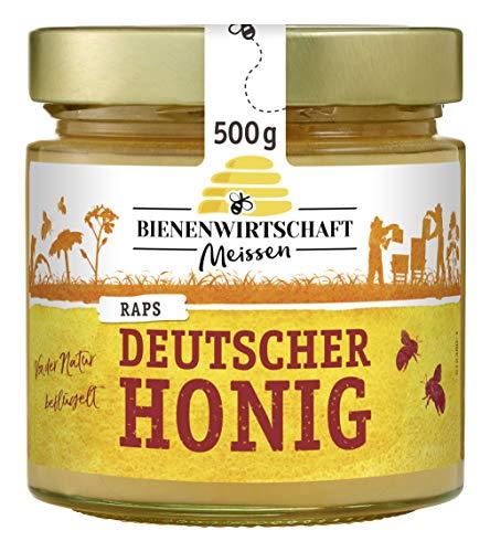 Bienenwirtschaft Meissen Deutscher Honig Raps cremig, 500 g