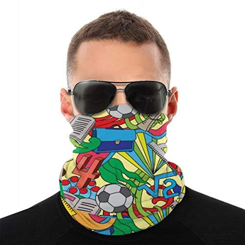 Headwear Seamless Pattern With School Doodles 10
