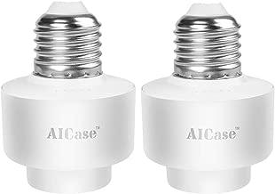 Smart Wifi E27-Casquillo de luz inteligente AICASE Wlan (2 unidades) para mando a distancia de casa, funciona con Alexa y Función de tiempo-White (E27 Casquillo de luz)