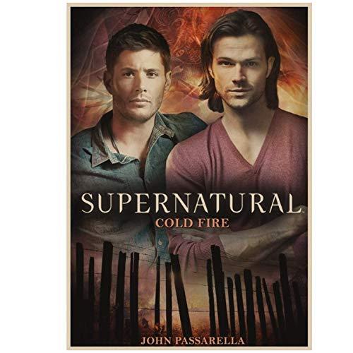 Shmjql Serie TV Film drammatico Supernatural Poster Arredamento per la casa Decorazione Poster cinematografico Disegno da Parete -20x28 Pollici Senza Cornice