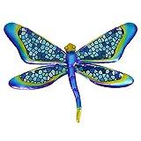 HONGLAND Metal Dragonfly Wall Decor Blue Mosaic Glass Art Sculpture Hanging Decorations for Home, Garden, Bedroom, Indoor, Outdoor