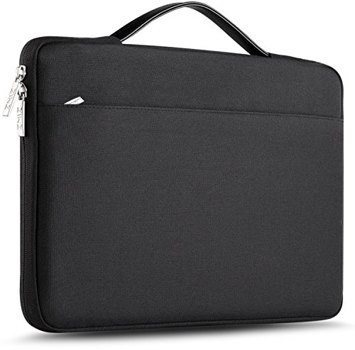 "Zinz 15,6 Zoll Aktentasche Laptoptasche Hülle, Stoßfeste Wasserdicht Notebook Sleeve kompatibel mit 15-15,6"" HP/Dell/ASUS/Acer/ThinkPad/Samsung/Toshiba Chromebook UltraBook Tablet, Schwarz"