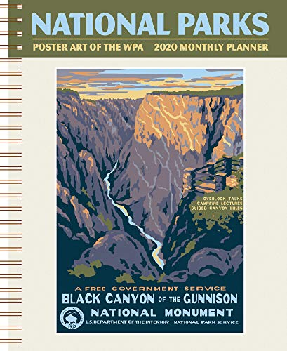 National Parks Poster Art of The WPA Softcover Monthly Planner 2020 January-December Personal Journal Organizer Scheduler 7.5