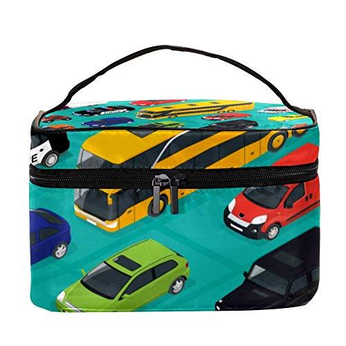 TIZORAX cosmeticatasje voor auto's, bus en fiets, reizen, toiletartikelen, grote make-up organizer box