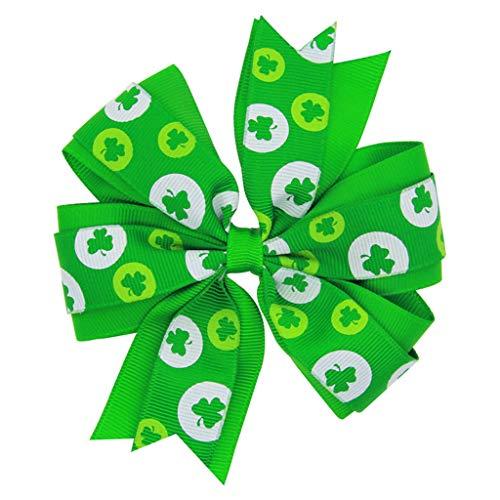 Moent Diadema de trbol verde para el da de San Patricio, para el da irlands del beb, banda elstica para el pelo, para fiestas de festivales y nios, accesorio para disfraz (verde, talla nica)