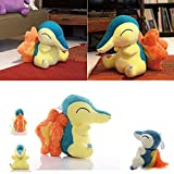 EdfdfWH 12in/30cm Cyndaquil Plush, Cyndaquil Stuffed Plush Doll Toy, Come with The Same Pendant, Cyndaquil Plush Toys, Cyndaquil Soft Toys, Cute Cyndaquil Stuffed Animal, for Boys Girls Anime Lovers