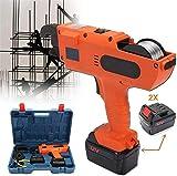 Legatrice Rebar Tier , Kit di utensili ricaricabile senza cordone elettrico Cordless Cord 4500mAh Strumenti di legatura elettrici portatili per 30-60mm Gamma di legatura (Arancione)