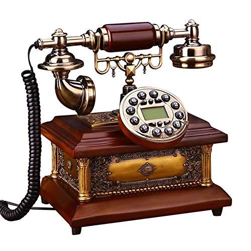 JFF Teléfono Antiguo, Teléfono Fijo De Hotel Clásico para El Hogar, Teléfono De Marcación Giratoria Antiguo Retro con Altavoz Y Función De Re-Marcado
