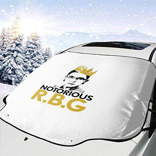 C-WANG Notorische Ruth Bader Ginsburg Windschutzscheibe Schneedecke Auto Windschutzscheibe Sonnenschutz Eisdecke (57.9Inchx46.5Inch)