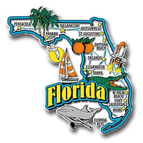 Florida State Jumbo Map Magnet