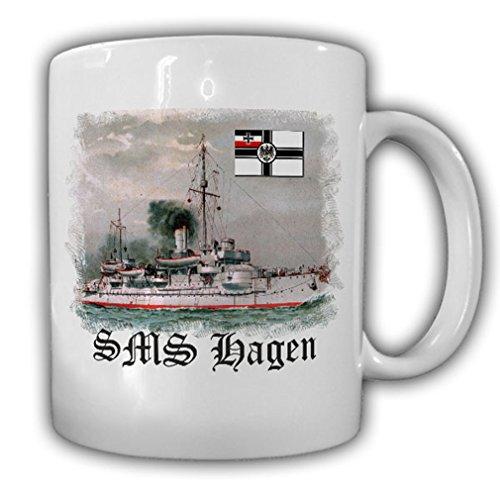 Hagen Schip SMS Hagen 6te van de zegenfried klasse kustschip mok #16964