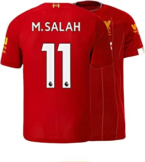 Men's M. Salah Jersey 2019-2020 Liverpool Home Soccer 11 Adult Mohamed