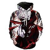 Qushy Unisex Tokyo Ghoul Hoodie Outwear Jacket