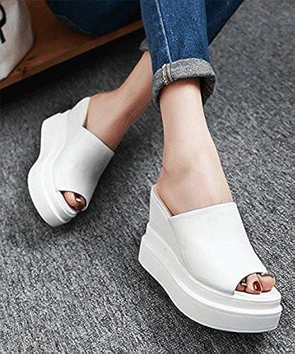 AWXJX été Tongs Femme Chaussures Pente à Fond Fond Fond épais imperméable 3a1