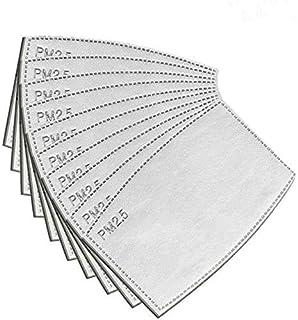 70 Filtros PM2.5 reemplazables y reutilizables, filtros para mascarillas, 5 capas de filtro de carbón activado para cubrir...