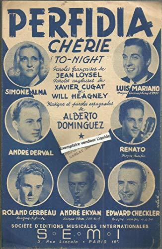 Perfida chérie (to-night) partition pour le chant en anglais et français