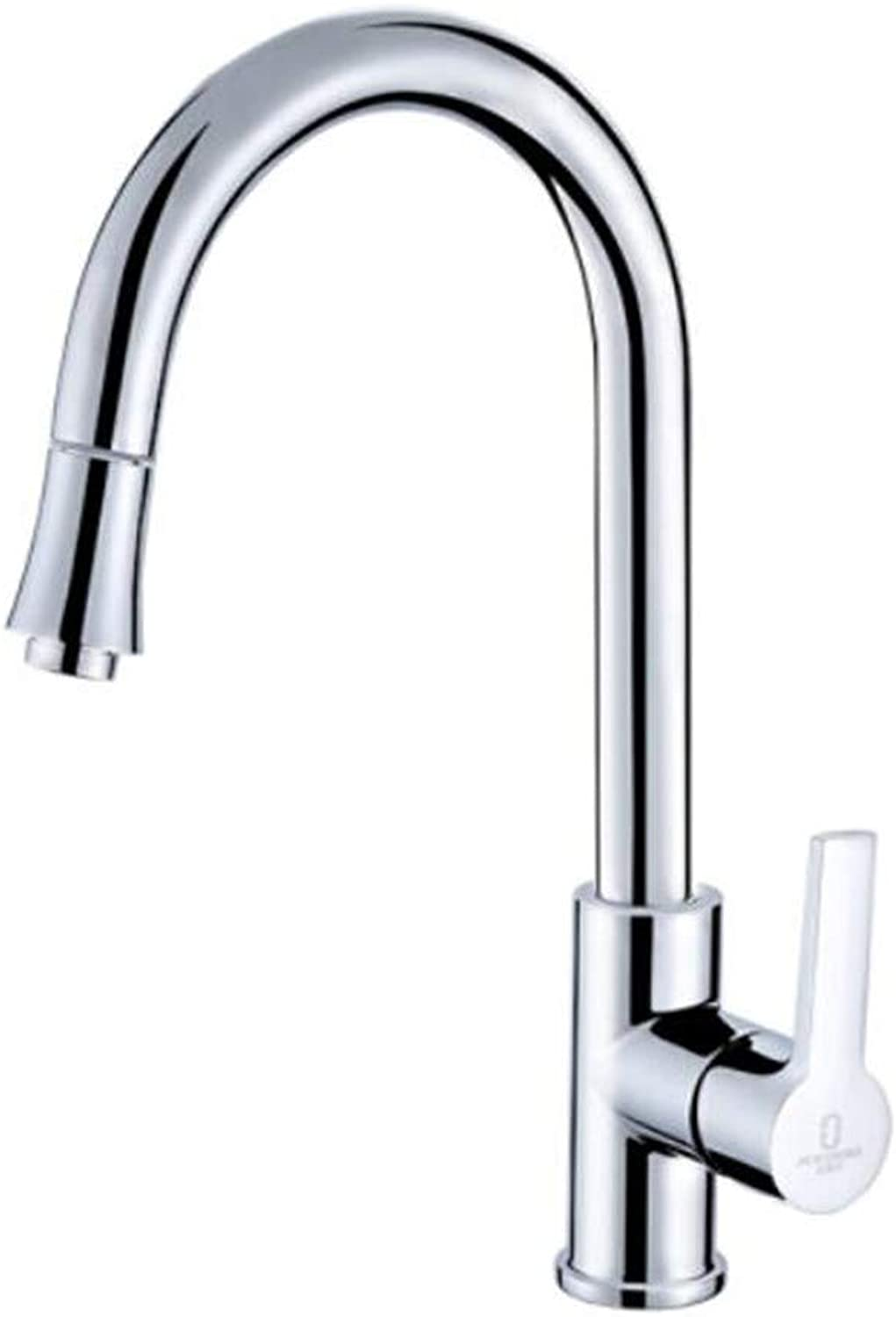 Faucet Waste Mono Spoutdraw Kitchen Sink Dishpan Cold and Hot Water Retractable redation
