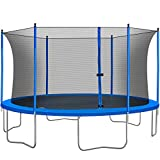 13FT Trampoline with Enclosure Outdoor Trampoline for Kids and Adults with Jumping Mat and Spring Cover Pad ASTM Tested Trampoline for Exercise Fitness