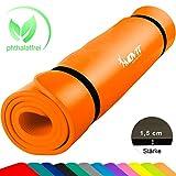 Movit XXL Pilates Gymnastikmatte, Yogamatte, phthalatfrei, SGS geprüft, 190 x 100 x 1,5cm, Orange
