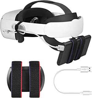 Esimen Power Bank Battery Strap for Oculus Quest 2 Head Elite Strap, Portable Charger Holder Organizer Compatible Multiple...