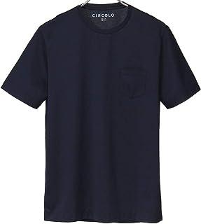 チルコロ Circolo クルーネックTシャツ マーセライズドコットン