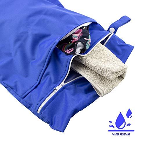 caseroxx luiertas/wetbag/luiertas met ritssluiting Premium 2-pocket strandtas voor baby's blauw