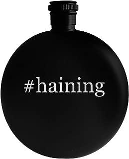 #haining - 5oz Hashtag Round Alcohol Drinking Flask, Black