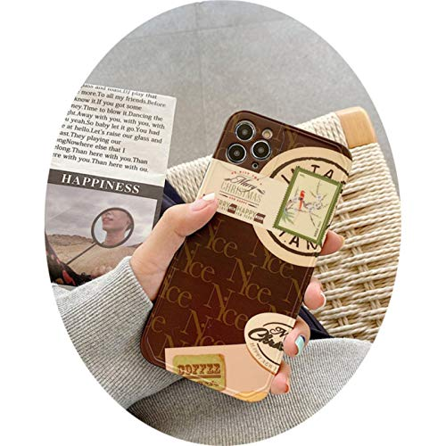 Fashion Rich Stamps Phone Case For iPhone 12 Mini 11 Pro MAX SE 2020 8 7 Plus XS MAX XR X Soft Back Cover CuteCases