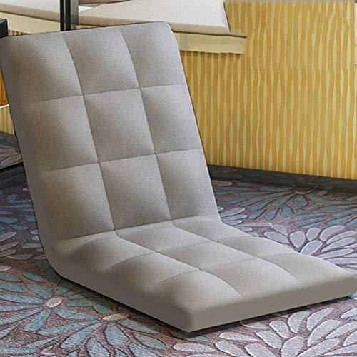 Y&S Acolchado de la Silla del Piso,Plegable de Estilo japonés Piso Silla Tumbona Comodidad de Video Juegos Sillón sofá -C 100x50x10cm(39x20x4inch)