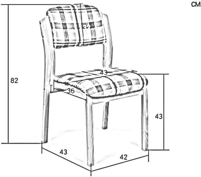 LGQ-JJU Tabouret De Café Dinant La Chaise, Dossier Moderne De Chaise De Bureau Confortable De Chaise Européenne Tabouret Simple Chaise En Bois, Couleur En Bois (Color : Red) Brown