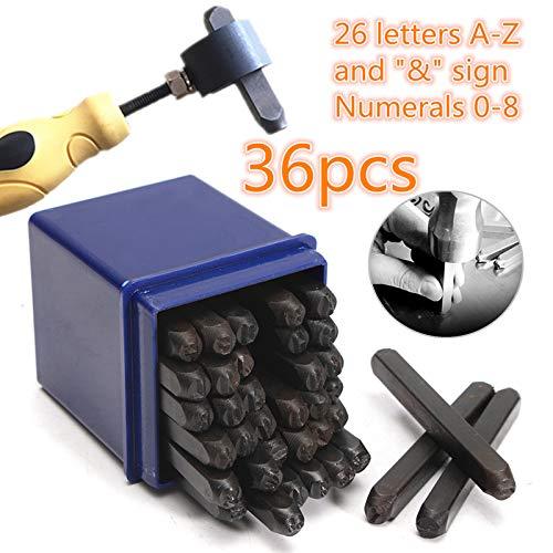36pcs / Set Voor 4mm Engels alfanumerieke Leer Stempelen Steel Ponsen Tool Steel Metal doe-het-Ambacht van Binnenlandse Zaken Decoration stamp