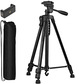 Tygot 3366 Aluminum Tripod (55-Inch), Universal Lightweight Tripod with Mobile Phone Holder Mount & Carry Bag for All Smar...