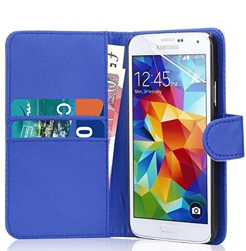 PU funda de piel para Samsung Galaxy A3 recién lanzado/A5/A7, Galaxy S6/S6 etidronato, Galaxy Core Prime por RS ACCESSORIZE, piel sintética, BLUE CASE, Samsung Galaxy S6 Edge