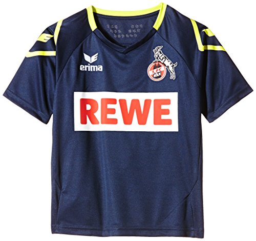 Erima Kinder FC Köln Away 2 Trikot inklusive Rewe Logo, New Navy, 164