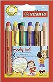 Lápiz de color multitalento STABILO woody 3 en 1 ARTY - Estuche con 6 colores
