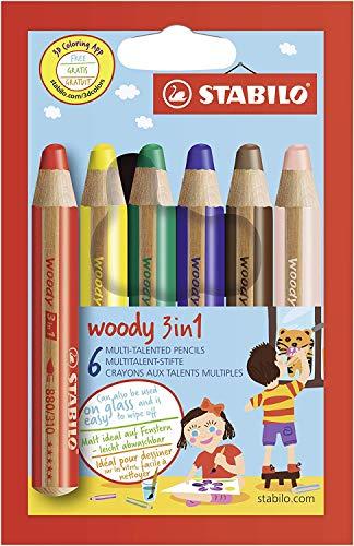 STABILO色鉛筆ウッディー3in16色8806
